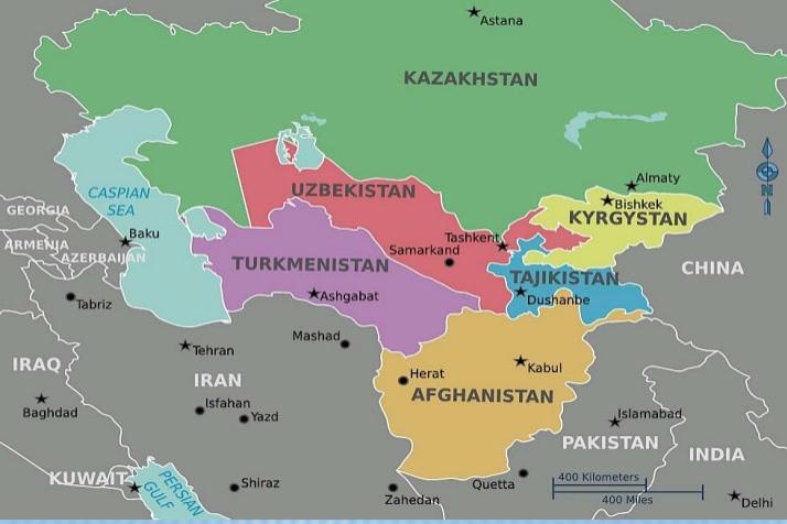 Uzbek Map